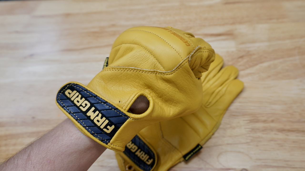 FIRM GRIP LEATHER IMPACT XL + LARGE TAN FULL GRAIN LEATHER GLOVE